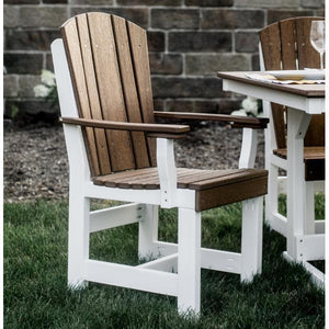 Little Cottage Co. Heritage Dining Chair With Arms Dining Chair Aruba Blue