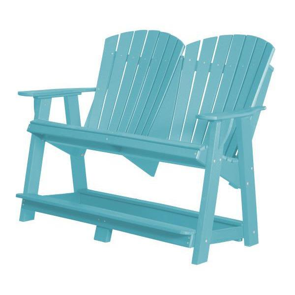 Little Cottage Co. Heritage Double High Adirondack Bench Garden Benches Aruba