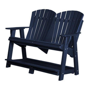 Little Cottage Co. Heritage Double High Adirondack Bench Garden Benches Patriot Blue