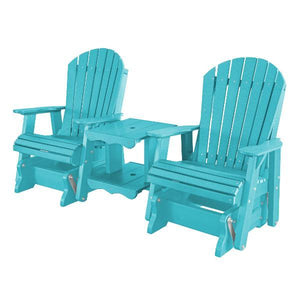 Little Cottage Co. Heritage Double Rock-a-Tee Garden Benches Aruba