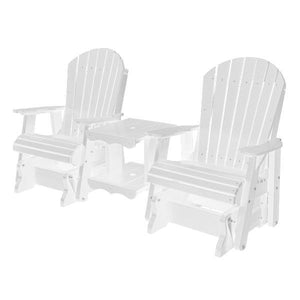 Little Cottage Co. Heritage Double Rock-a-Tee Garden Benches Bright White