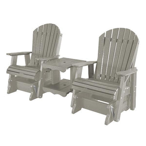 Little Cottage Co. Heritage Double Rock-a-Tee Garden Benches Light Grey