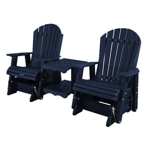 Little Cottage Co. Heritage Double Rock-a-Tee Garden Benches Patriot Blue