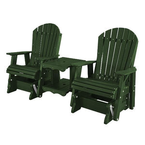 Little Cottage Co. Heritage Double Rock-a-Tee Garden Benches Turf Green