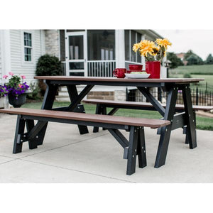 Little Cottage Co. Heritage Picnic Table with Unattached Benches Picnic Table