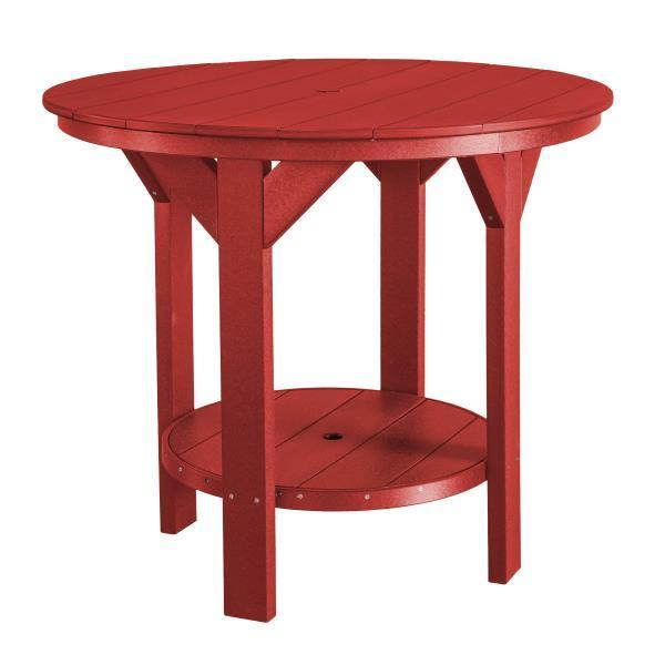 Little Cottage Co. Heritage Pub Table Table Cardinal Red