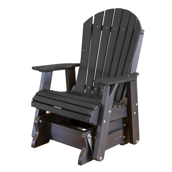 Little Cottage Co. Heritage Single Seat Rock-A-Tee Patio Glider Gliders Black