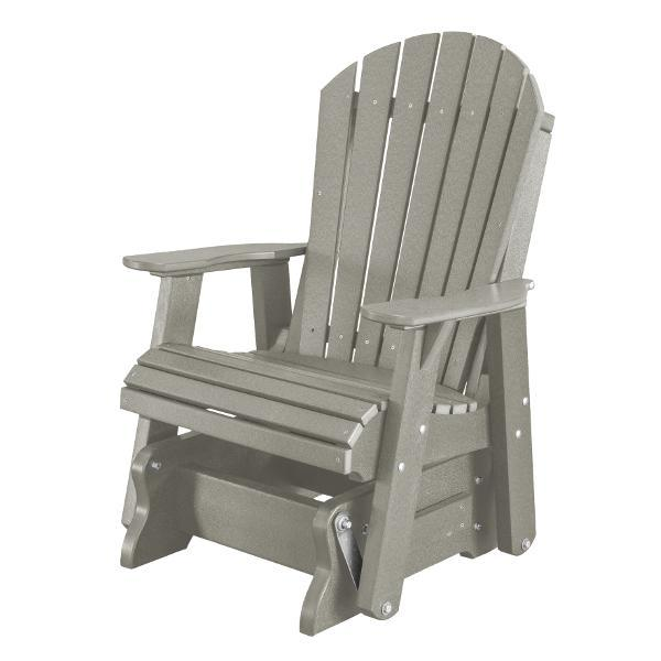 Little Cottage Co. Heritage Single Seat Rock-A-Tee Patio Glider Gliders Light Gray