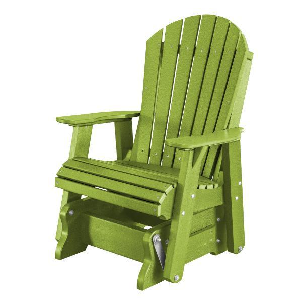Little Cottage Co. Heritage Single Seat Rock-A-Tee Patio Glider Gliders Lime