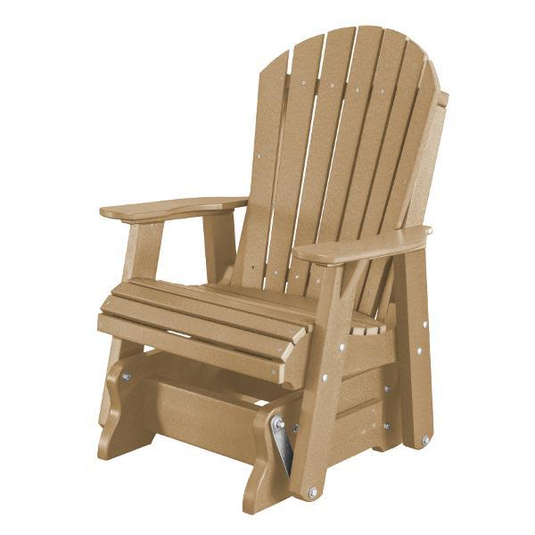 Little Cottage Co. Heritage Single Seat Rock-A-Tee Patio Glider Gliders Weathered Wood