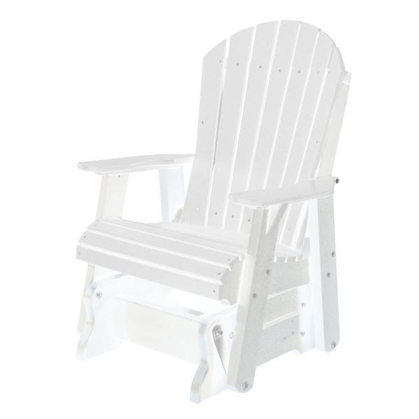 Little Cottage Co. Heritage Single Seat Rock-A-Tee Patio Glider Gliders White