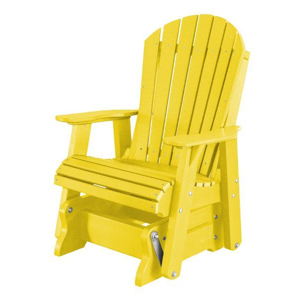Little Cottage Co. Heritage Single Seat Rock-A-Tee Patio Glider Gliders Yellow