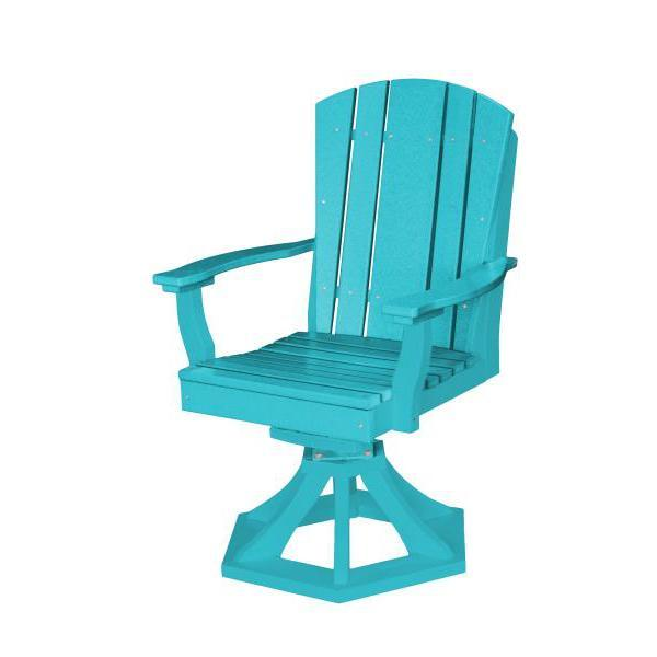 Little Cottage Co. Heritage Swivel Rocker Dining Chair Dining Chair Aruba Blue