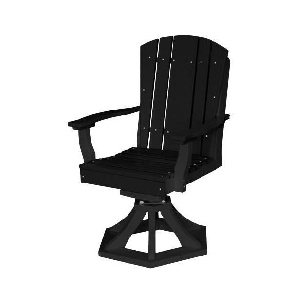 Little Cottage Co. Heritage Swivel Rocker Dining Chair Dining Chair Black