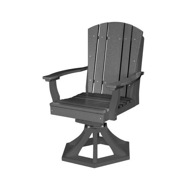 Little Cottage Co. Heritage Swivel Rocker Dining Chair Dining Chair Tangent Gray