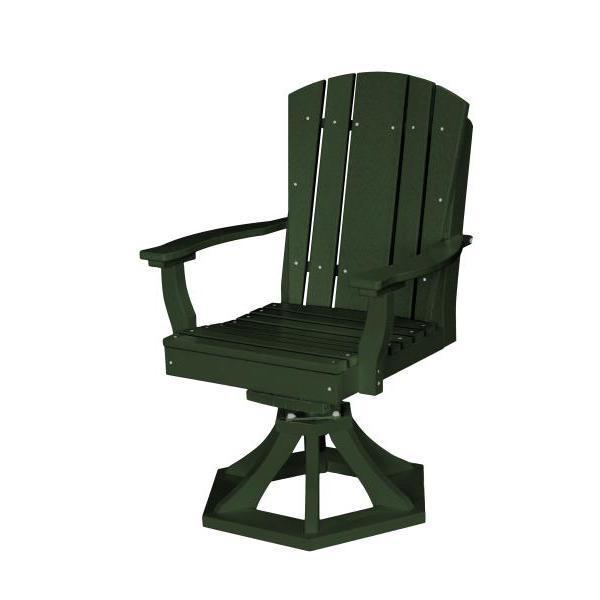 Little Cottage Co. Heritage Swivel Rocker Dining Chair Dining Chair Turf Green