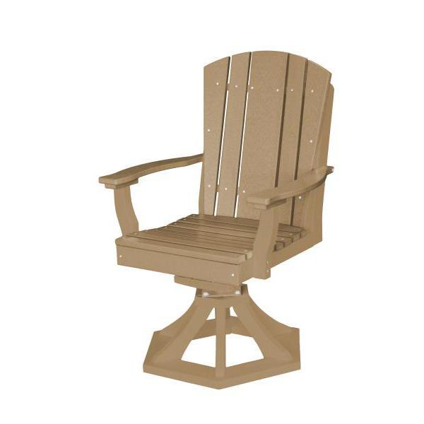 Little Cottage Co. Heritage Swivel Rocker Dining Chair Dining Chair Weathered Wood