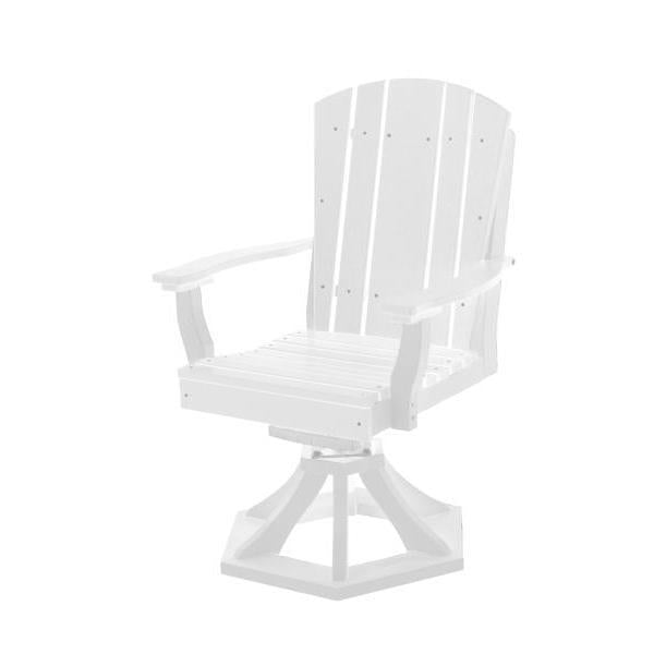 Little Cottage Co. Heritage Swivel Rocker Dining Chair Dining Chair White