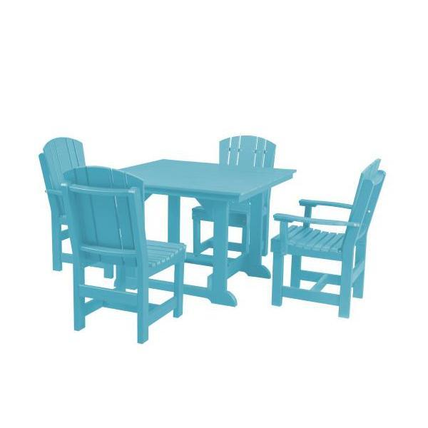 Little Cottage Co. Heritage Table, 2 Dining Chairs, 2 Arm Chairs Dining Set Aruba Blue