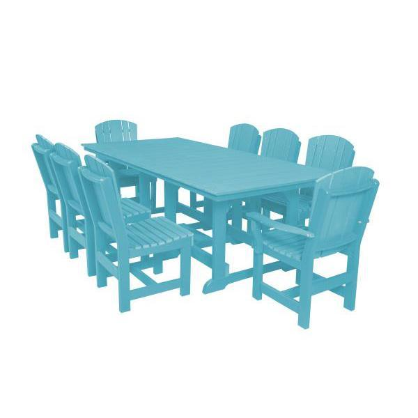 Little Cottage Co. Heritage Table, 6 Dining Chairs, 2 Arm Chairs Dining Set Aruba Blue