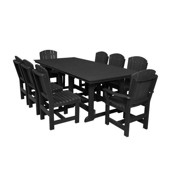 Little Cottage Co. Heritage Table, 6 Dining Chairs, 2 Arm Chairs Dining Set Black
