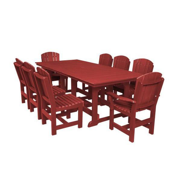Little Cottage Co. Heritage Table, 6 Dining Chairs, 2 Arm Chairs Dining Set Cardinal Red