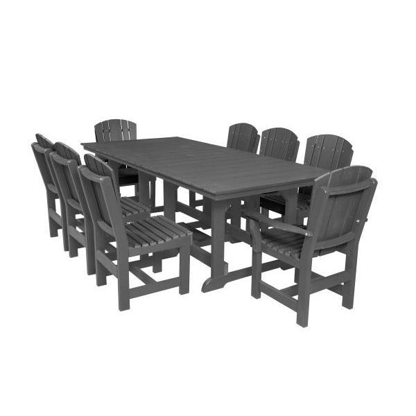 Little Cottage Co. Heritage Table, 6 Dining Chairs, 2 Arm Chairs Dining Set Dark Gray