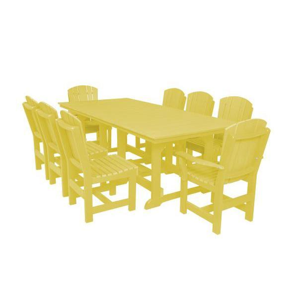 Little Cottage Co. Heritage Table, 6 Dining Chairs, 2 Arm Chairs Dining Set Lemon Yellow