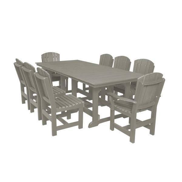 Little Cottage Co. Heritage Table, 6 Dining Chairs, 2 Arm Chairs Dining Set Light Grey