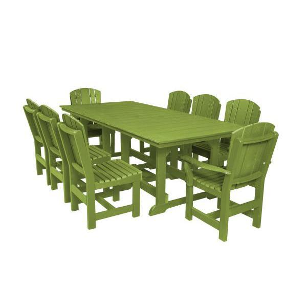 Little Cottage Co. Heritage Table, 6 Dining Chairs, 2 Arm Chairs Dining Set Lime Green