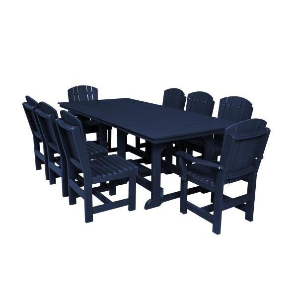 Little Cottage Co. Heritage Table, 6 Dining Chairs, 2 Arm Chairs Dining Set Patriot Blue