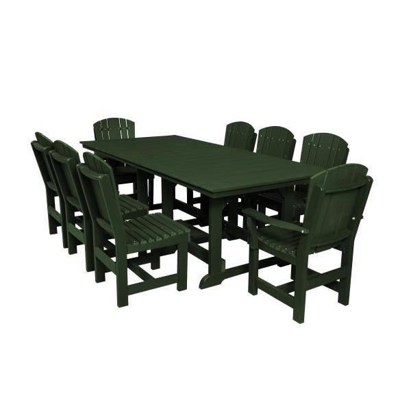 Little Cottage Co. Heritage Table, 6 Dining Chairs, 2 Arm Chairs Dining Set Turf Green