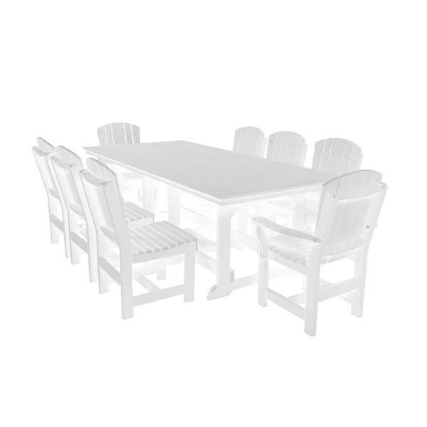 Little Cottage Co. Heritage Table, 6 Dining Chairs, 2 Arm Chairs Dining Set White