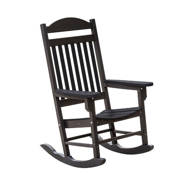 Little Cottage Co. Heritage Traditional Plastic Rocker Chair Rocker Chair Black