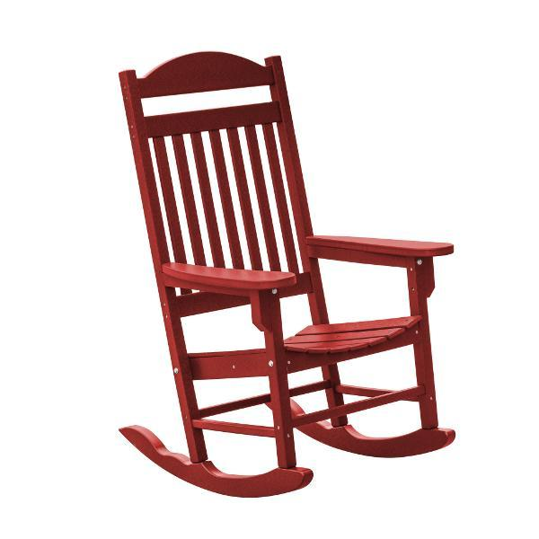 Little Cottage Co. Heritage Traditional Plastic Rocker Chair Rocker Chair Cardinal Red