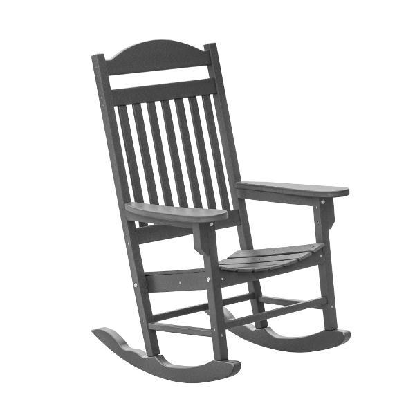 Little Cottage Co. Heritage Traditional Plastic Rocker Chair Rocker Chair Dark Gray
