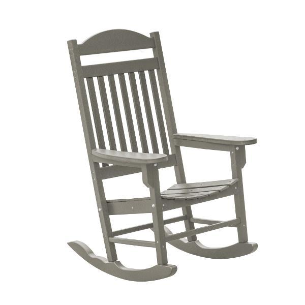 Little Cottage Co. Heritage Traditional Plastic Rocker Chair Rocker Chair Light Gray