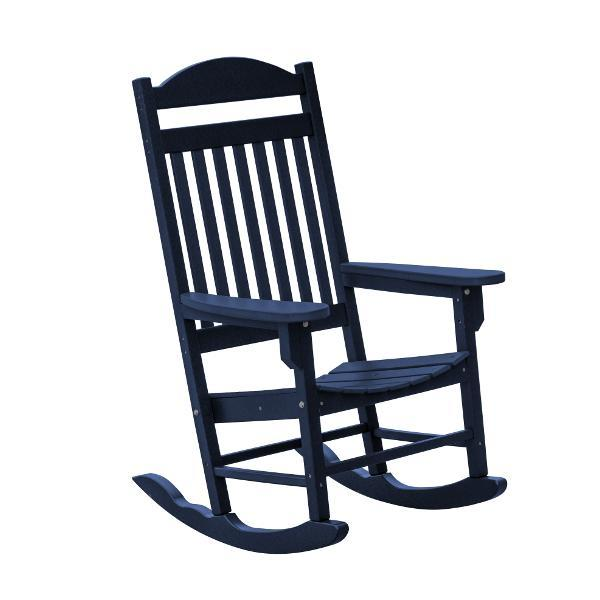 Little Cottage Co. Heritage Traditional Plastic Rocker Chair Rocker Chair Patriot Blue