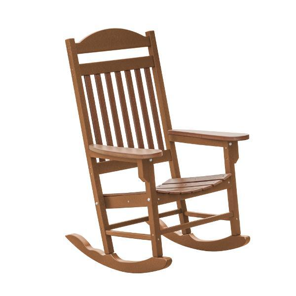 Little Cottage Co. Heritage Traditional Plastic Rocker Chair Rocker Chair Tudor Brown