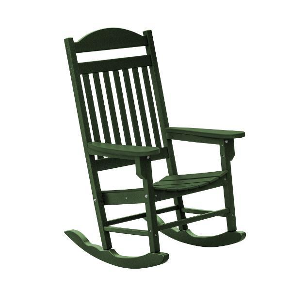 Little Cottage Co. Heritage Traditional Plastic Rocker Chair Rocker Chair Turf Green