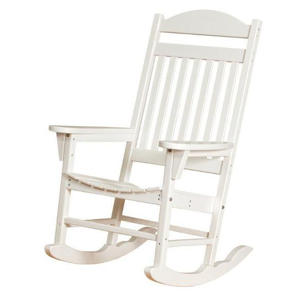 Little Cottage Co. Heritage Traditional Plastic Rocker Chair Rocker Chair White