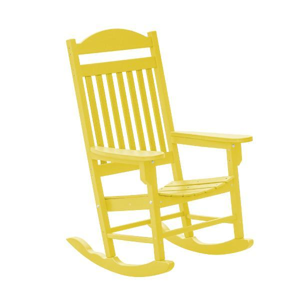 Little Cottage Co. Heritage Traditional Plastic Rocker Chair Rocker Chair Yellow