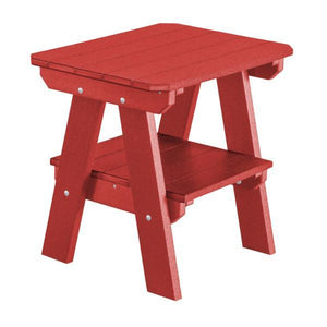 Little Cottage Co. Heritage Two Tier End Table Table Cardinal Red