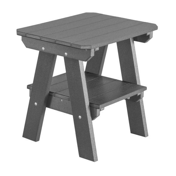 Little Cottage Co. Heritage Two Tier End Table Table Dark Grey