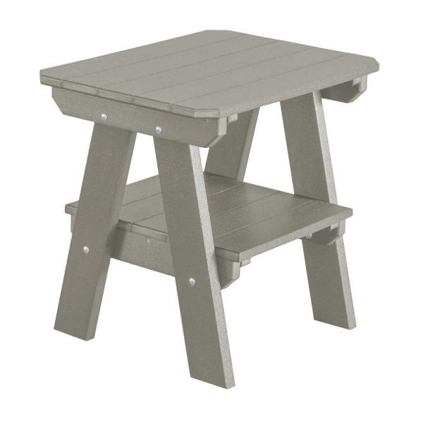 Little Cottage Co. Heritage Two Tier End Table Table Light Grey