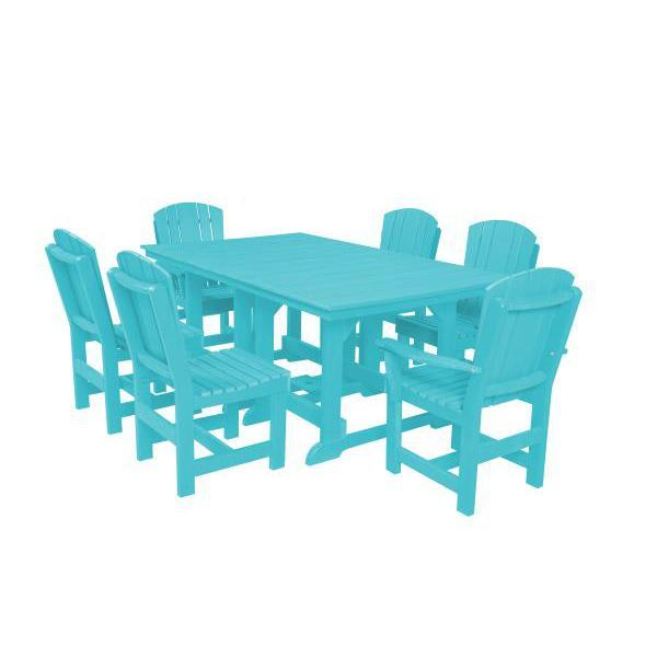 Little Cottage Co. Table, 4 Dining Chairs, 2 Arm Chairs Dining Set Aruba Blue
