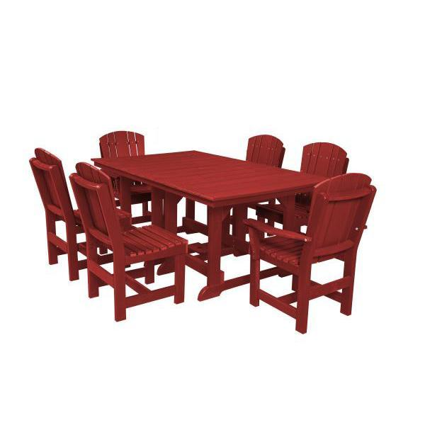 Little Cottage Co. Table, 4 Dining Chairs, 2 Arm Chairs Dining Set Cardinal Red