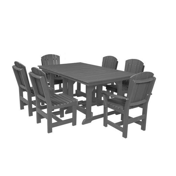 Little Cottage Co. Table, 4 Dining Chairs, 2 Arm Chairs Dining Set Dark Gray