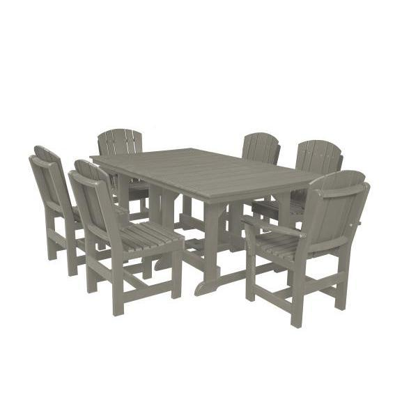 Little Cottage Co. Table, 4 Dining Chairs, 2 Arm Chairs Dining Set Light Grey