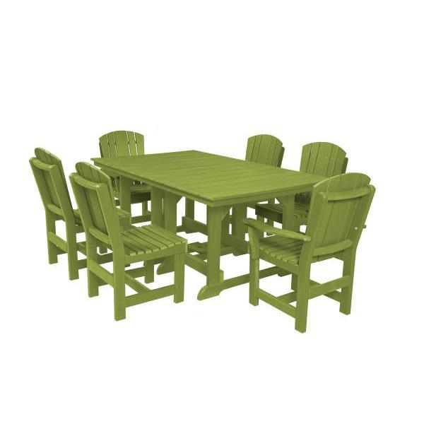 Little Cottage Co. Table, 4 Dining Chairs, 2 Arm Chairs Dining Set Lime Green